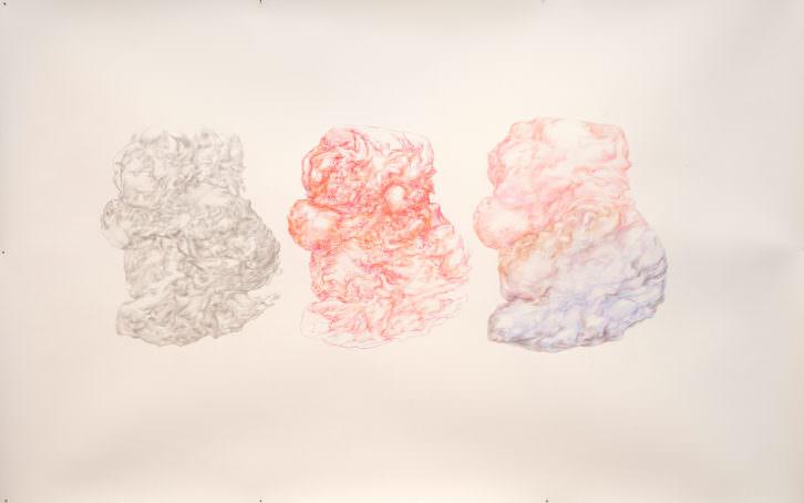 Obra de Henrike Scholten. Lápiz sobre papel, 150x150cm. Imagen por cortesía de la galería.