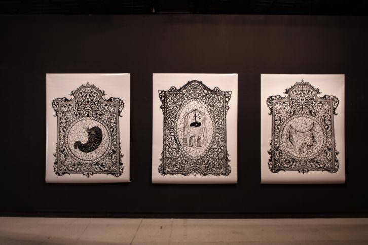 Vista de la exposición. Juan Diego Gonzálvez Izquierdo. Imagen cortesía de la Galería.