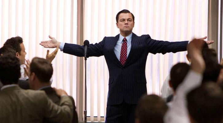 Leonardo Dicaprio, como Jordan Belfort, en 'El lobo de Wall Street', de Martin Scorsese.