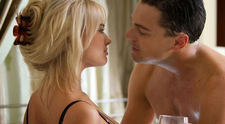 Margot Robbie y Leonardo Dicaprio en 'El lobo de Wall Street', de Martin Scorsese.