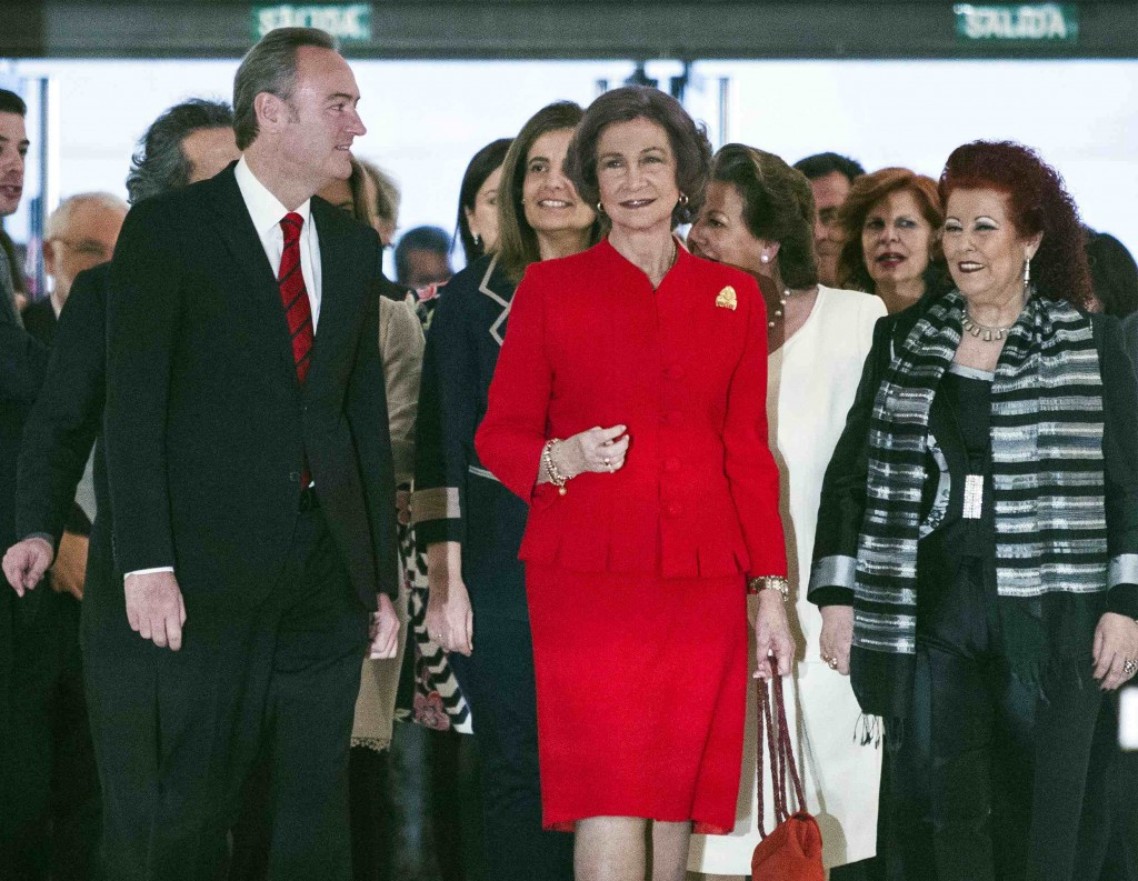 La Reina Doña Sofía, durante la inauguración de la exposición conmemorativa de los 25 años del IVAM. Foto: Miguel Lorenzo