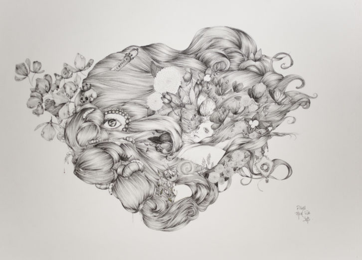 Raquel Carrero, El ciclo de la vida (2013). Imagen cortesía de la Trentatres Gallery.