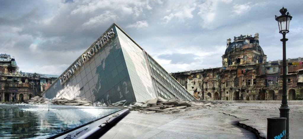 Isaac Montoya, Reconstrucción (París), 2010 (fotografía digital bajo metacrilato, 115 x 250 cm). Imagen cortesía del artista.