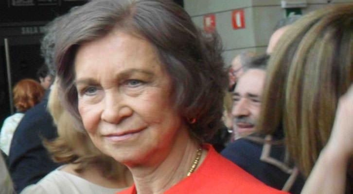 Imagen de la Reina Doña Sofía, en un momento de su visita al IVAM.