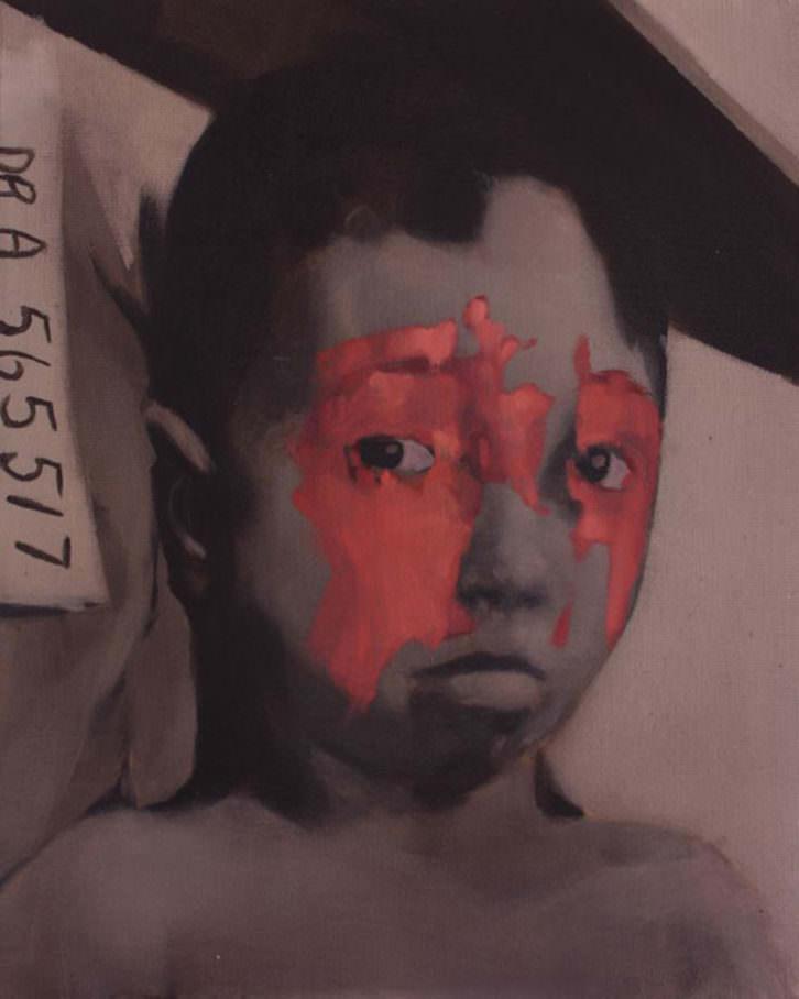 Nacho Martín Silva, kid II, 2013, (óleo sobre lienzo, 41 x 33 cm). Imagen cortesía de la Galería nuble.