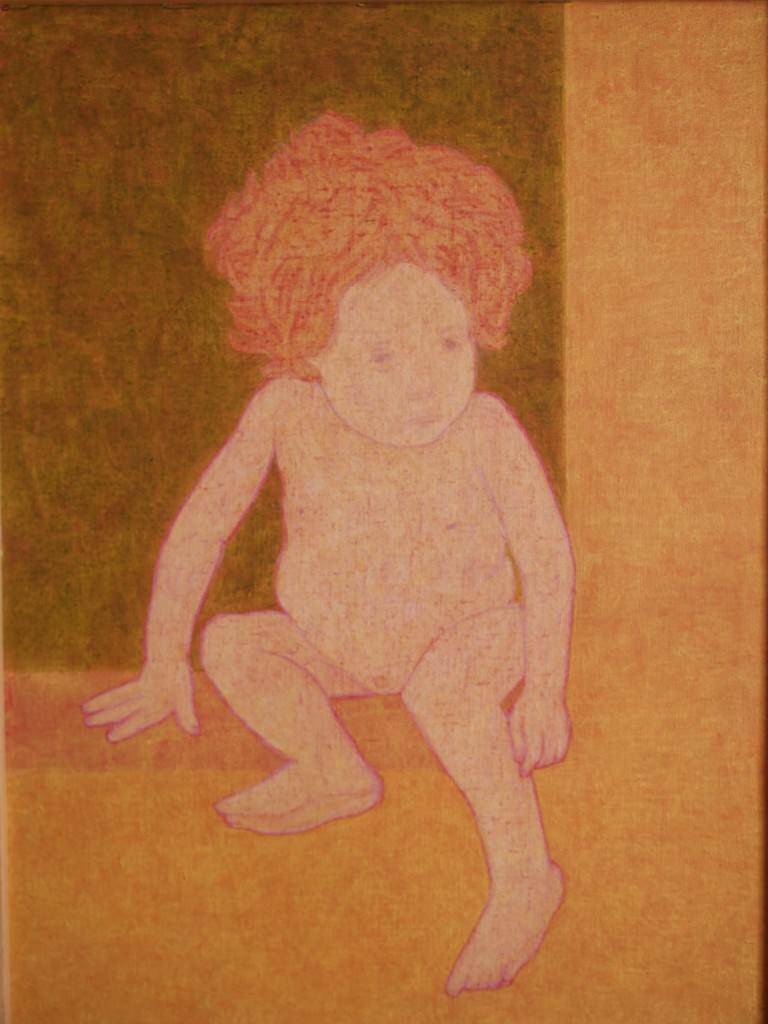 Obra de Pedro Esteban en la exposición 'Tracción del retrato'. Imagen cortesía del Colegio Mayor Rector Peset.