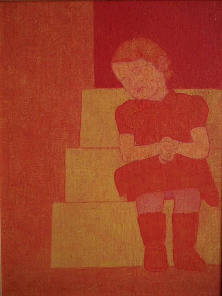 Una de las obras de la exposición 'Tracción del retrato', de Pedro Esteban. Imagen cortesía del Colegio Mayor Rector Peset.