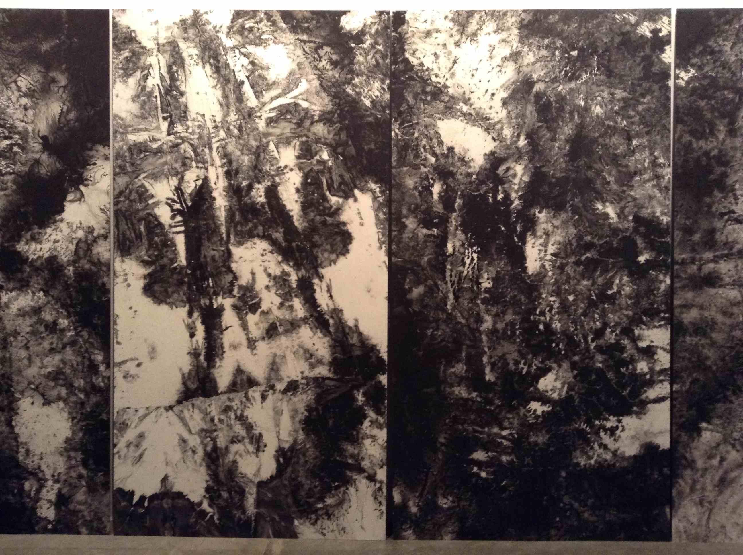 Una de las obras de Bingyi en la galería Charpa. Imagen cortesía de Charpa.