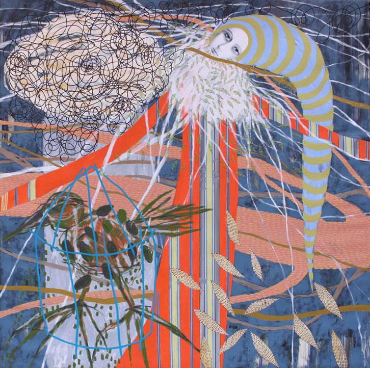 Caí en mi propia trampa, obra de Ana Karina Lema Astray. Imagen cortesía de Espacio40