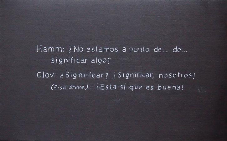 """Xisco Mensua """"Fin de la partida"""" (en """"Palabras en la imagen""""). Imagen cortesía de la galería."""