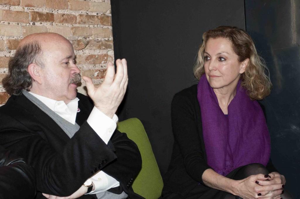 Josep Lluís Sirera y Mariangeles Fayos en un momento de los Desayunos Makma en Lotelito. Foto: Gala Font de Mora.