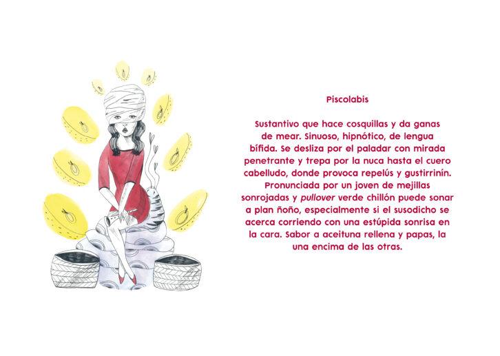 """María Herreros y Jorge Herrero, """"Piscolabis"""" (ilustración y texto). Imagen cortesía del Convento Espacio de Arte de Vila-real."""