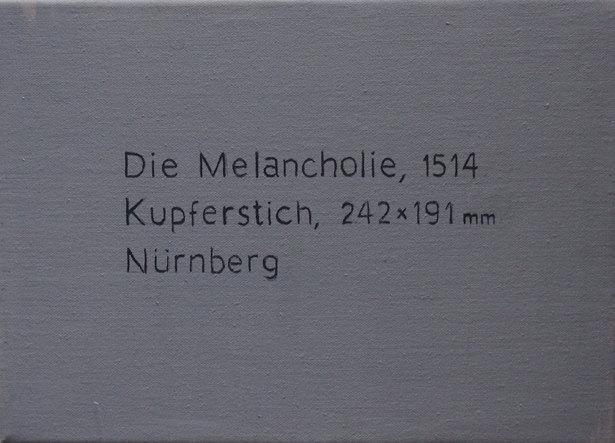"""Xisco Mensua """"Melancolía"""" (en """"Palabras en la imagen""""). Imagen cortesía de la galería."""