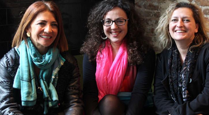 De izquierda a derecha, Teresa Legarre, Irene Ballester y Lucía Peiró. Fotografía: Consuelo Chambó.