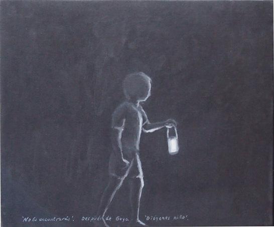 """Xisco Mensua """"No lo encontrarás"""" (en """"Palabras en la imagen""""). Imagen cortesía de la galería."""