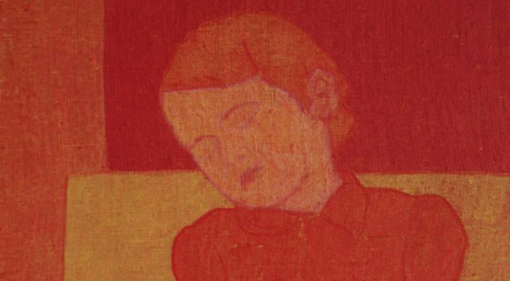 Detalle de una de las obras de la exposición 'Tracción del retrato', de Pedro Esteban. Imagen cortesía del Colegio Mayor Rector Peset.