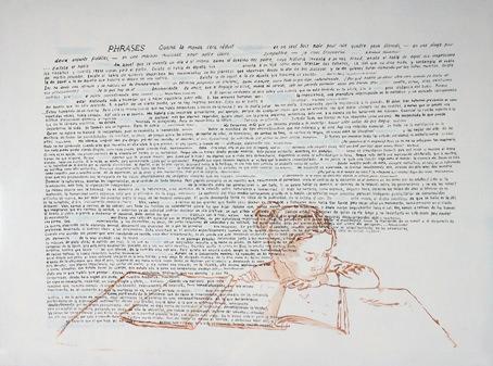 """Xisco Mensua """"Phrases"""" (en """"Palabras en la imagen""""). Imagen cortesía de la galería."""