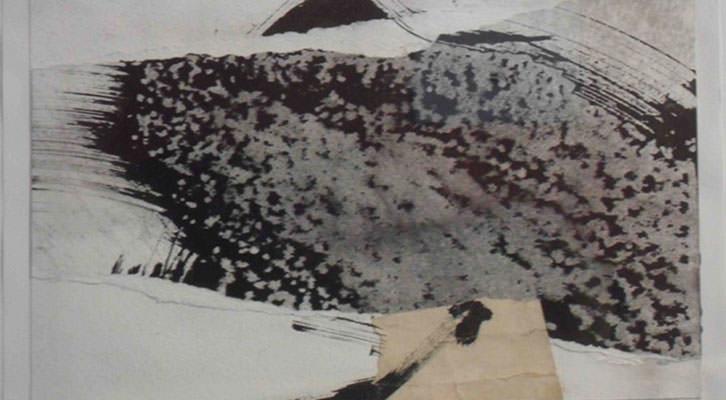 Obra de Brigitte Pietrzak de la exposición 'Emergencia del signo' en el Institut Français de Valencia.