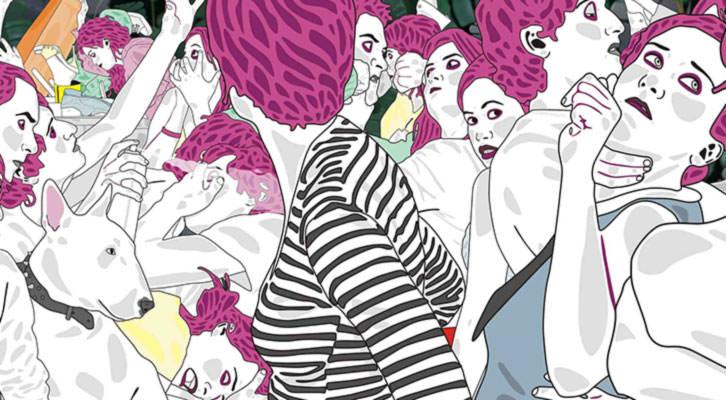 Detalle de la obra de Ruth Gómez en la exposición de La Nau. Imagen cortesía del Patronato Martínez Guerricabeitia.