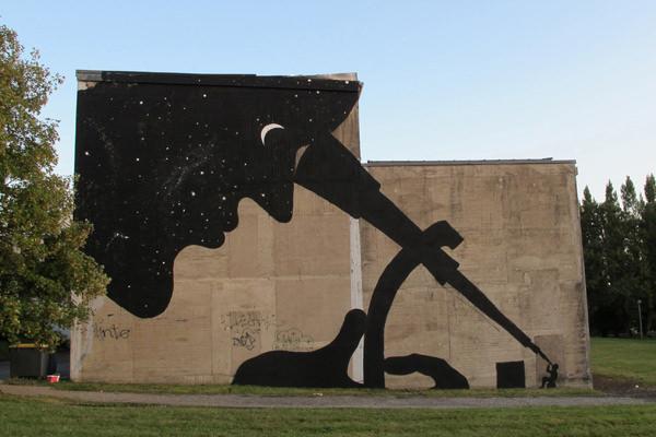 Sam3, fotografía de un mural del artista. Imagen cortesía del Convento Espacio de Arte de Vila-real.