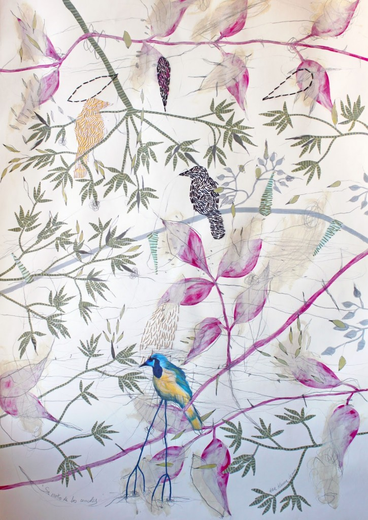 Sin rastro de los caracoles, obra de Ana Karina Lema. Imagen cortesía de Espacio40