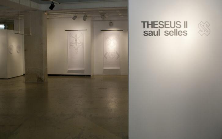 Fotografía de la exposición Theseus II. Imagen cortesía del artista.
