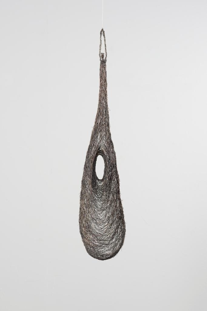 Fanny Galera (escultura en metal). Imagen cortesía de la artista.