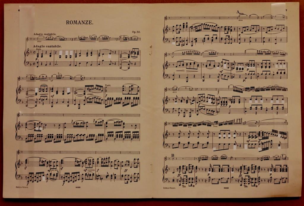Fito Conesa. Romance sin mi, (2010. Partitura y corrector). Imagen cortesía del proyecto a3bandas.