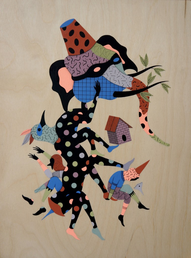 """Hell'O Monsters, """"Cover History"""". Imagen cortesía de la Galería Espai Tactel."""
