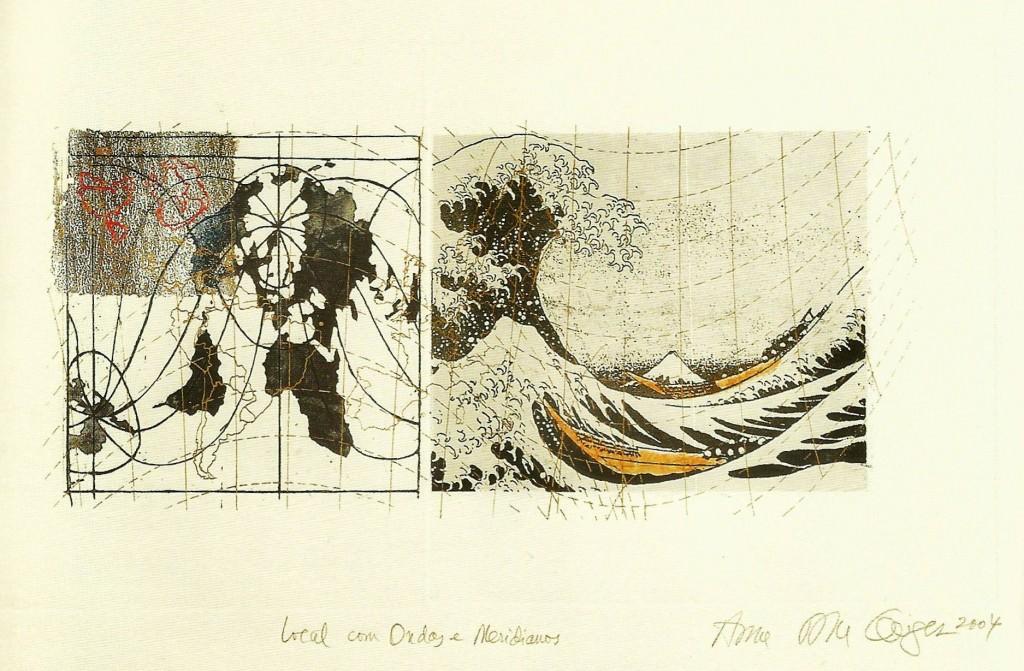 """Anna Bella Geiger, """"Local com ondas e meridianos"""". Imagen cortesía de la galería."""