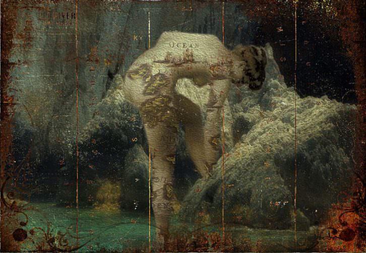 Baño de Artemis, de Michel Koven en 'Mitos y fotomitos'. Imagen cortesía de Galería Rambla de l'Art de Cambrils.
