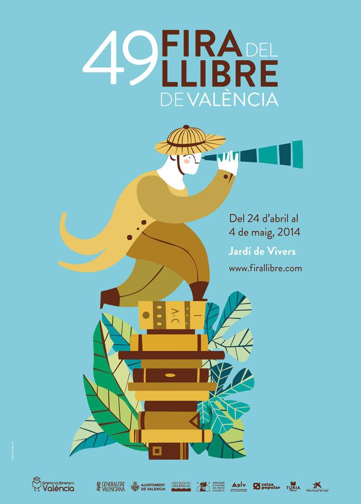 Cartel de la Fira del Llibre de Valéncia.
