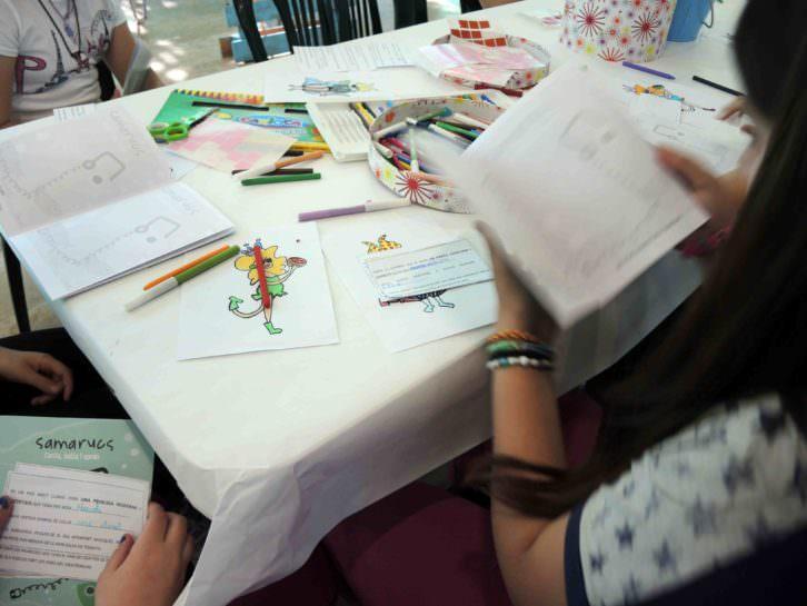 Imagen de uno de los talleres de la Fira del Llibre de València. Imagen cortesía de la organización.