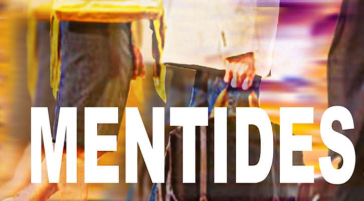 Detalle del cartel anunciador de la obra 'Mentides', del grupo de teatro Assaig. Imagen cortesía de La Nau de la Universitat de València.