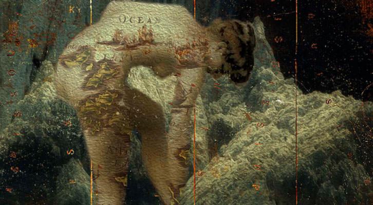 Detalle de la obra de Michel Koven, en la galería Rambla de l'Art de Cambrils.