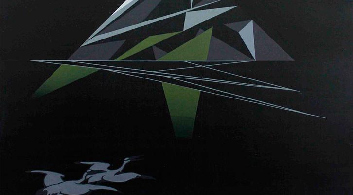 Detalle de una de las obras de Roberto Mollá en la exposición 'Un país extranjero'. Imagen cortesía de My Name's Lolita Art.
