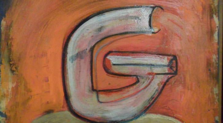 Una de las letras del 'Abece-Dario-Dario' de José Morea en la Sala de la Muralla del MuVIM.