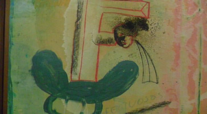 Letra del 'Abece-Dario-Dario' de José Morea en la Sala de la Muralla del MuVIM.