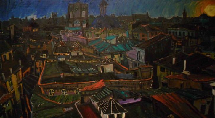 Vista de Valencia, de Juan Ribera Berenguer, en la sala Alfons Roig del MuVIM.