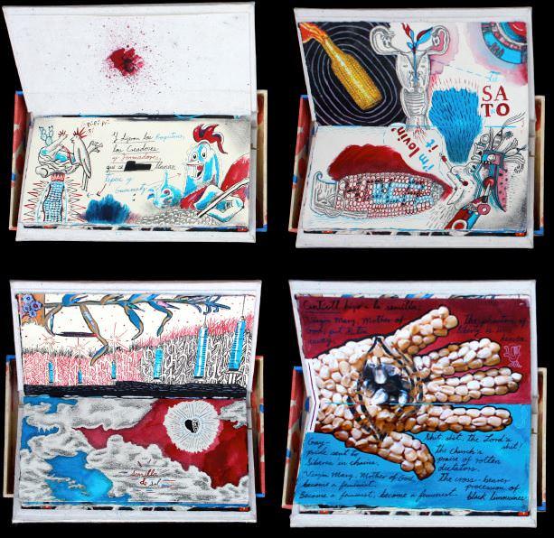 """""""Semilla de sol"""" de Santiago Robles. Pieza ganadora de la sección Libro de Artista. Primera Bienal de Arte y Diseño de la UNAM."""