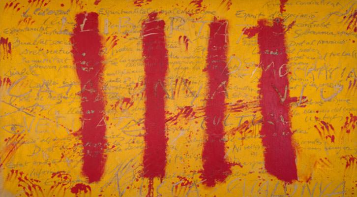 L'esperit català, de Antoni Tàpies. Museo de Bellas Artes de Bilbao.