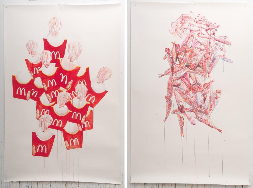 """Mariana Sarraute, """"El milagro del pan y los peces"""". Imagen cortesía de la artista y Addaya Centro de Arte Contemporáneo."""