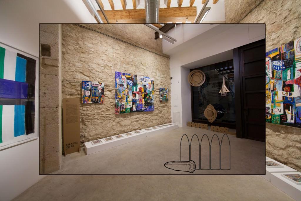"""Fotografía de una salas de la Parking Gallery. Imagen cortesía del proyecto """"A quemarropa""""."""