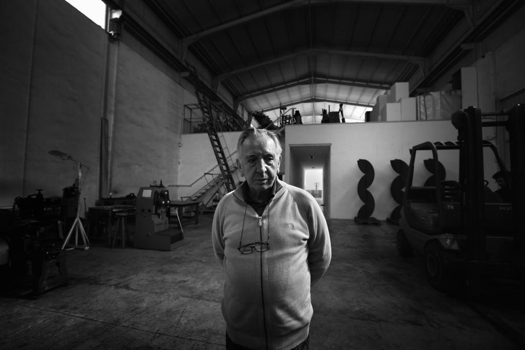"""Jesús Císcar, """"Andreu Alfaro"""" (fotografía de la exposición """"Estudios de Arte""""). Imagen cortesía de la Fundación Bancaja."""