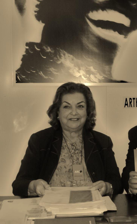 Amparo Zaragozá en Arco, Febrero 2007. Foto Vicente Chambó. Archivo personal.