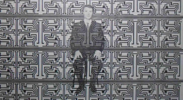 Detalla de una de las obras de Anzo en el homenaje que le brinda Galería Muro.