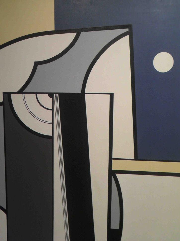 Obra de Anzo en la exposición homenaje de Galería Muro.