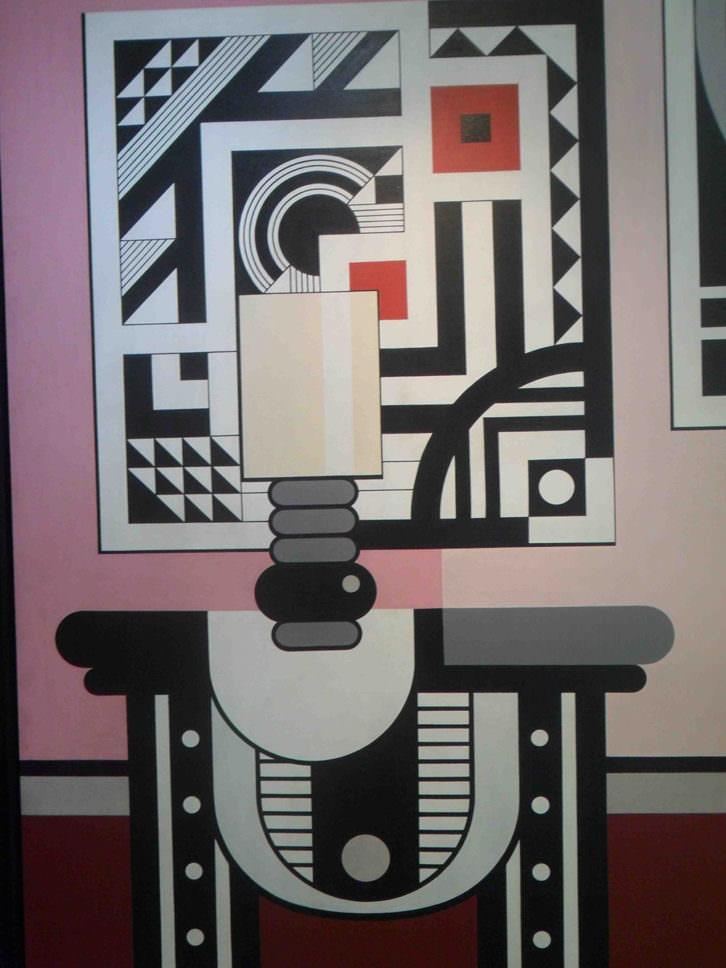 'Cuadro dentro del cuadro, de Anzo, en la exposición homenaje que le dedica la galería Muro.