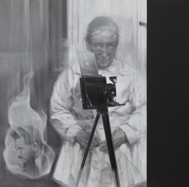 """Chema López, """"Un cuento de fantasmas para adultos"""" (Autorretrato de Ada con extra). Imagen cortesía de Fundación Martínez Guerricabeitia."""