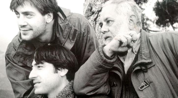 De izquierda a derecha, Javier Bardem, Carmelo Gómez y Gonzalo Suárez. Imagen cortesía de Cinema Jove.